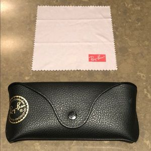 Brand New Ray Ban back glass case